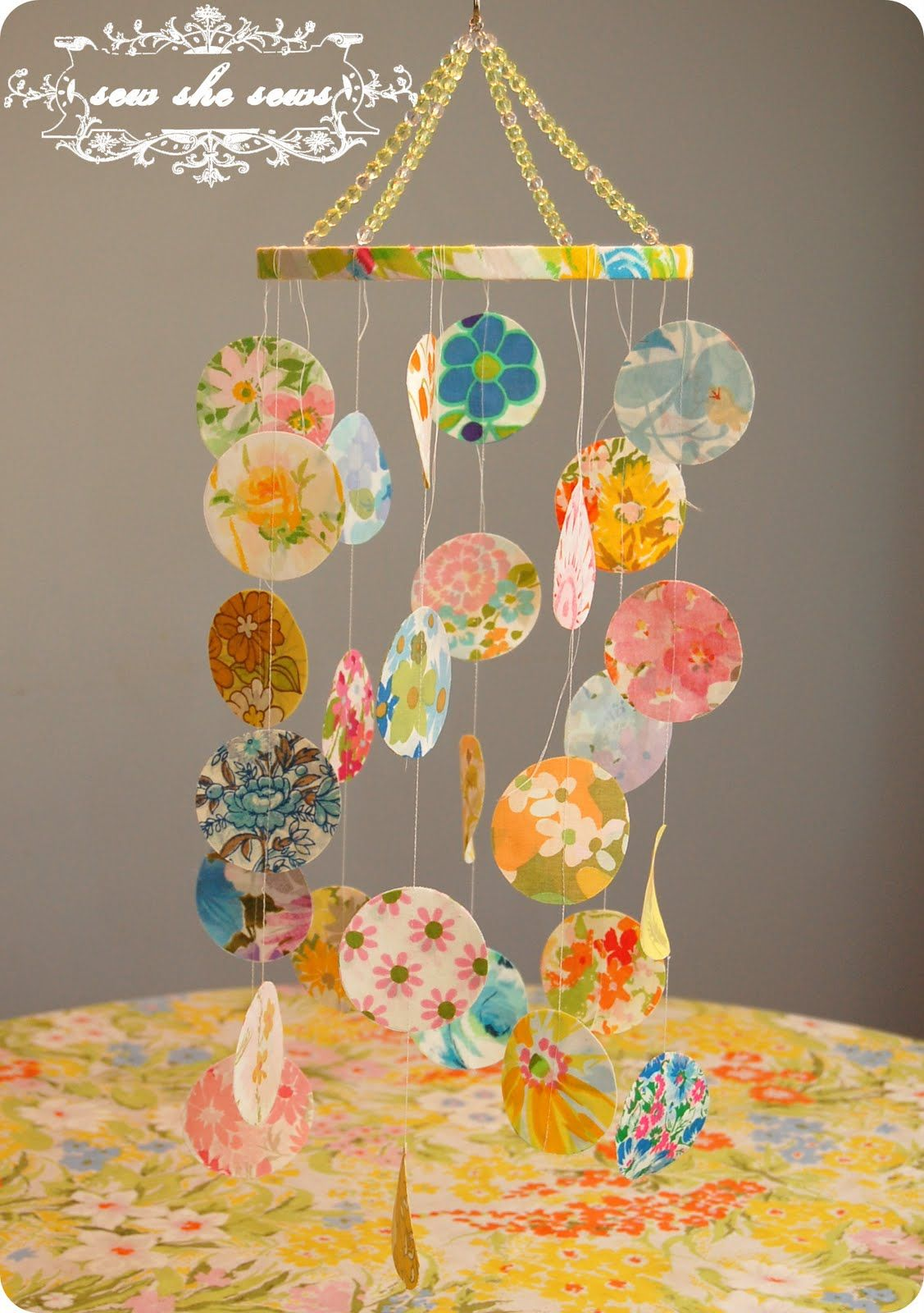 The Vintage Sheet Blog: Baby Week- Featuring a Baby Mobile + Tutorial
