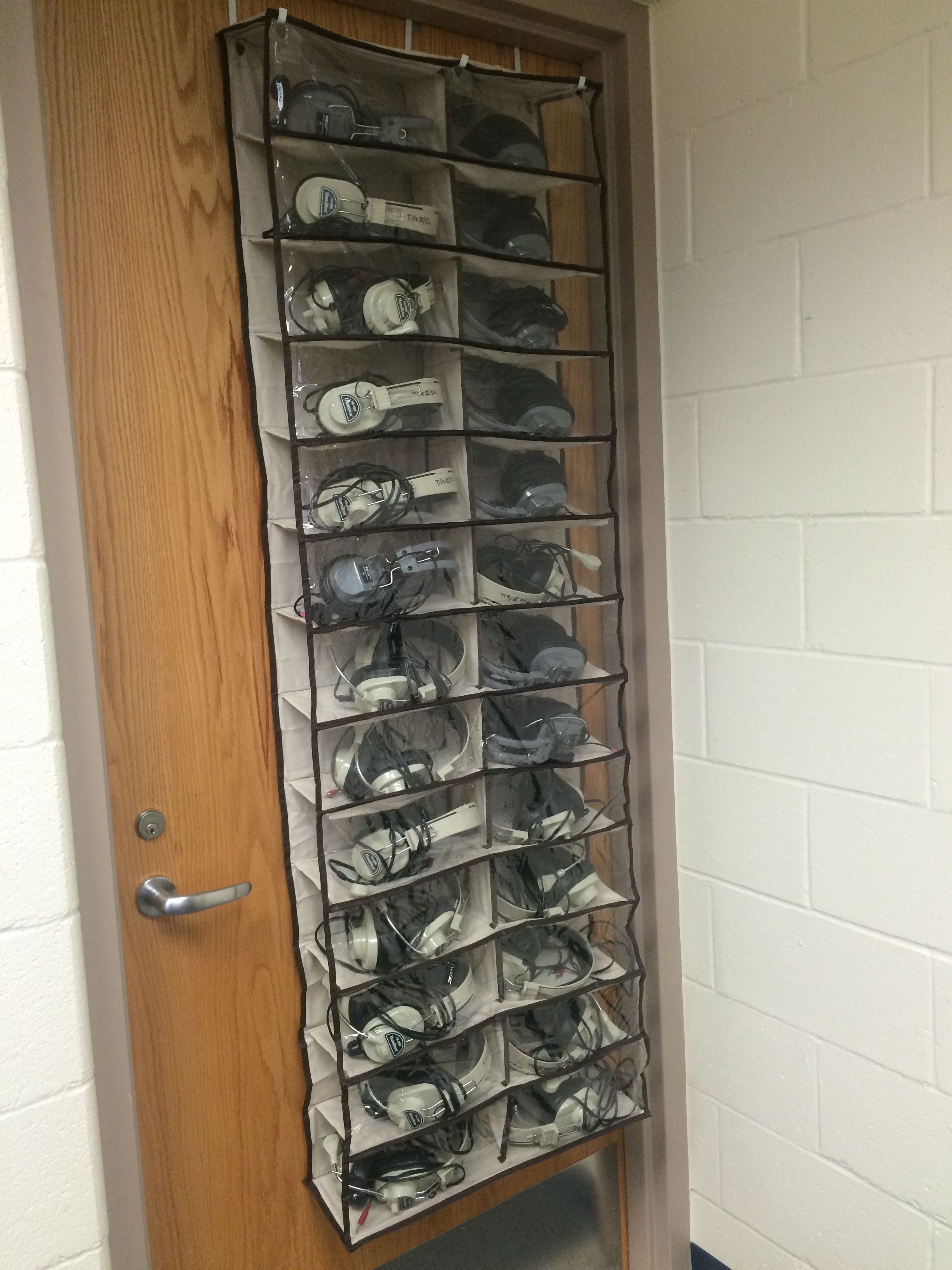 An Over The Door Shoe Organizer Works Great For Organizing