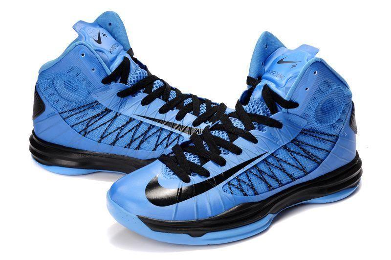 Nike Lunar Hyperdunk 2013 Blue Black Mens Basketball Shoes