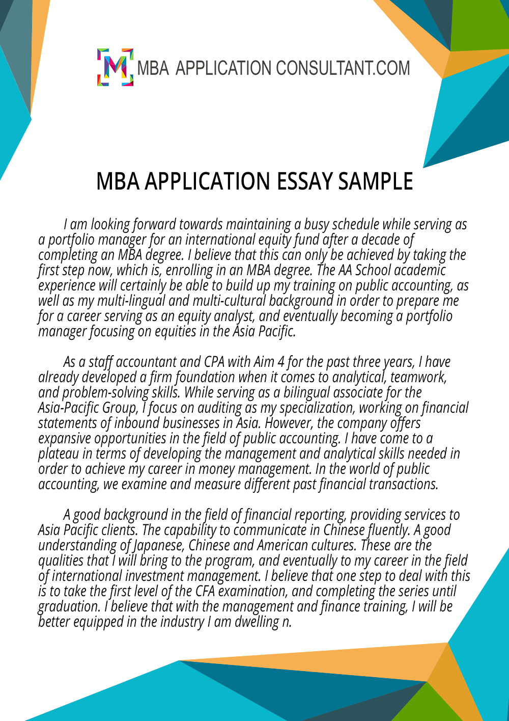 httpwwwmbaapplicationconsultantcombest mba application - Mba Entrance Essay Examples