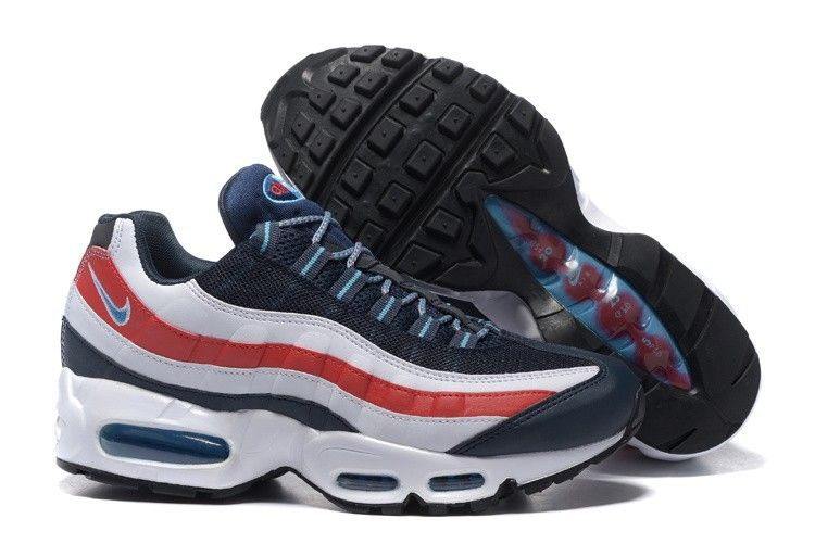 discount shop good quality free shipping à vendre Chaussures Nike Air Max 95 Homme Marine/Blanche ...