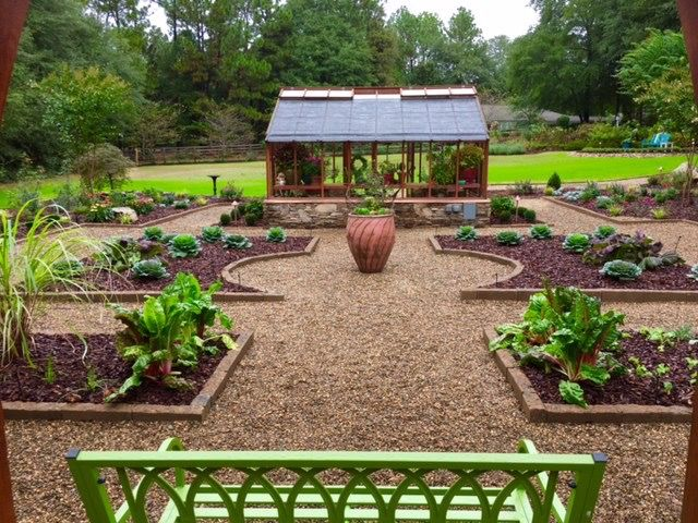 Nantucket Greenhouse as the focal point in a landscape ...