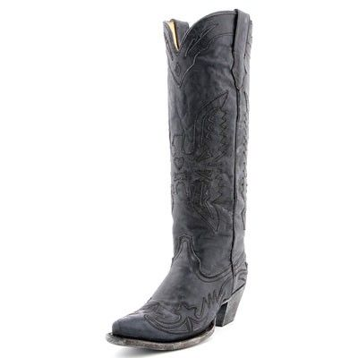 Cowgirl Clad Company - Corral Black Tall Top Eagle Cowgirl Boots R2348, $280.00 (http://www.cowgirlclad.com/corral-black-tall-top-eagle-cowgirl-boots-r2348/)