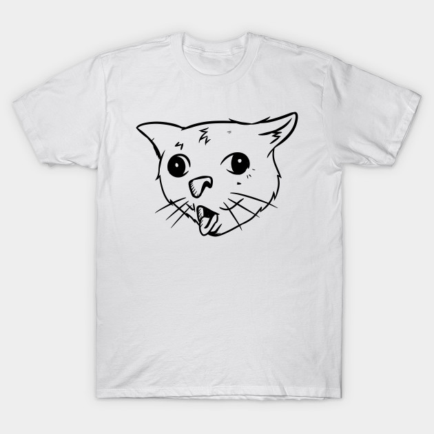 Coughing Cat Meme Coughing Cat Meme T Shirt Teepublic Cat Memes Cats Meme Tshirts