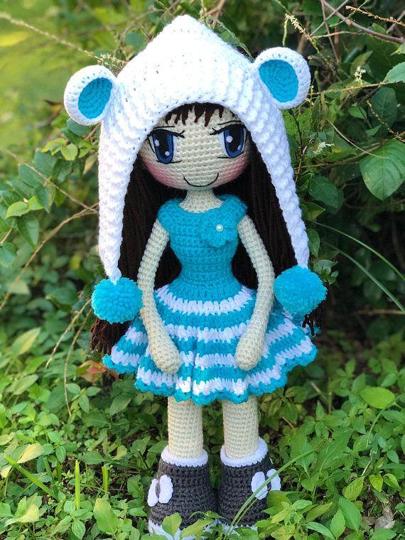 PATTERN Crochet Judith Doll, PATTERN   Crochet doll pattern, Crochet ...