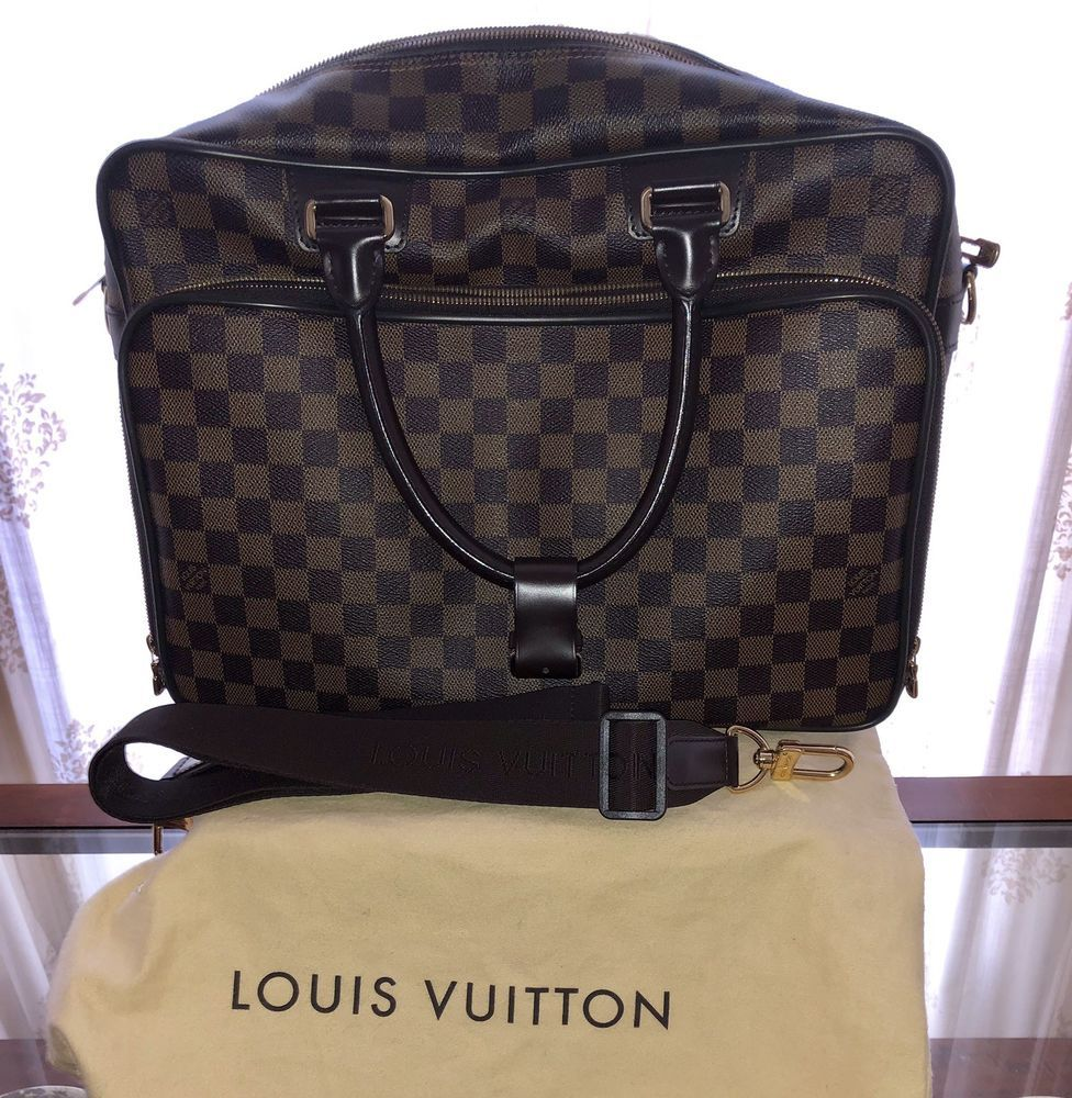 7e8be6b6 LOUIS VUITTON Damier Ebene Icare Business Briefcase Laptop Travel ...