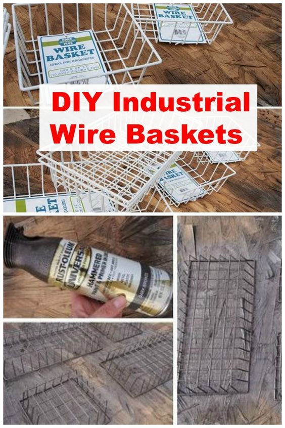 Industrie Deko Industrial Wire Basket | Dollar Store Crafts, Wire Baskets