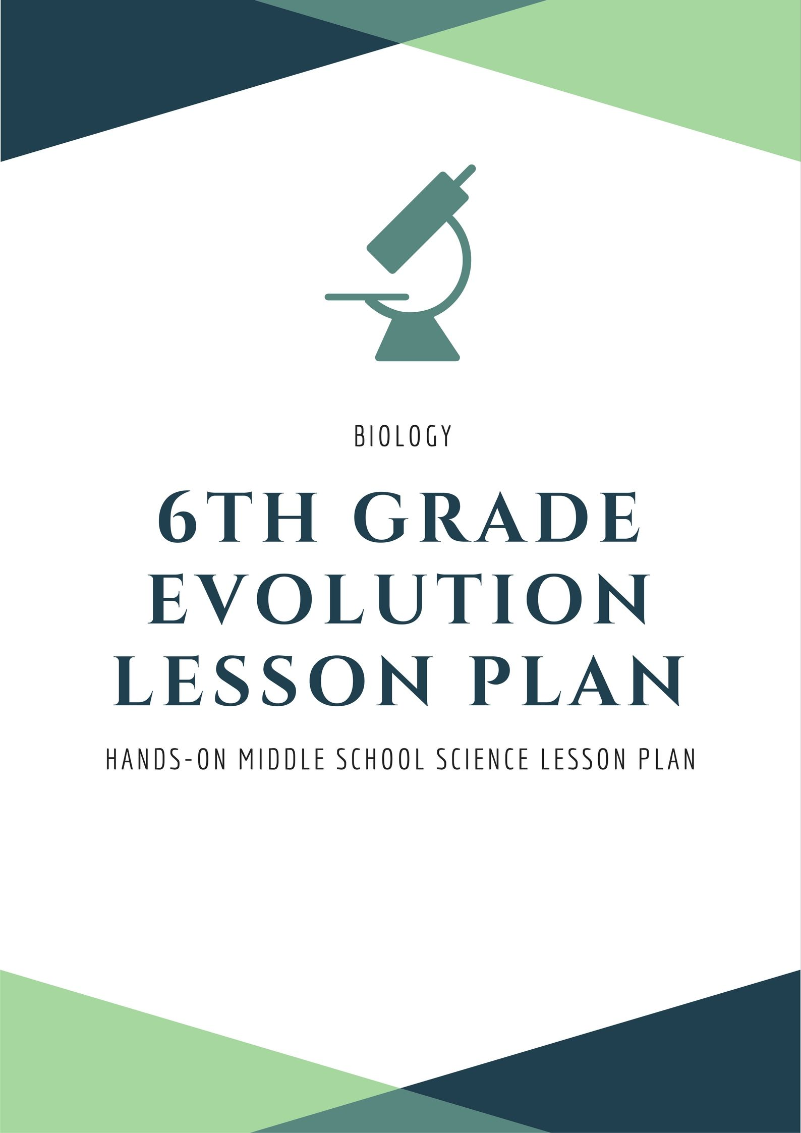 Evolution Lesson Plan Activity For Middle School