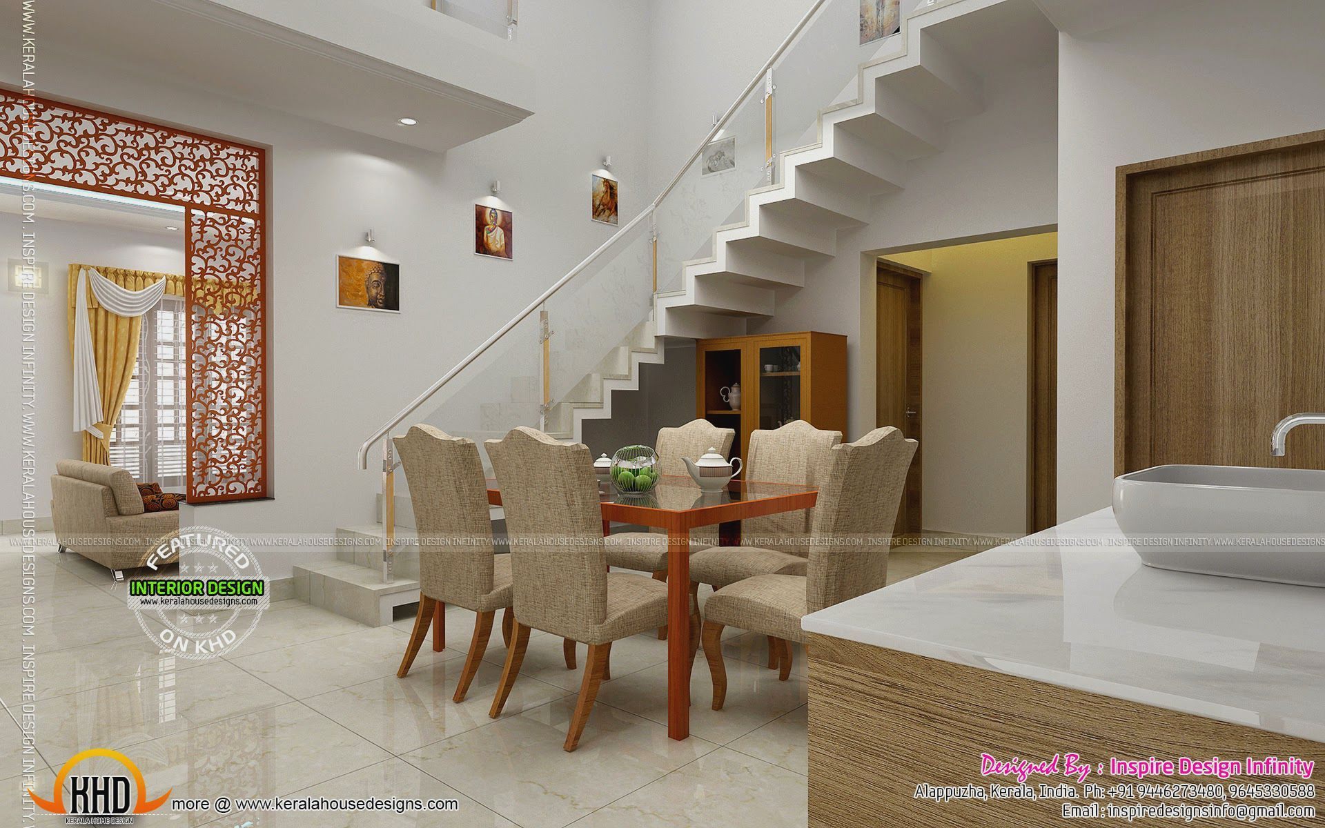 Pin by putri ratna on home design and interior photos pinterest dining room designs kerala home design and floor plans dzzzfo