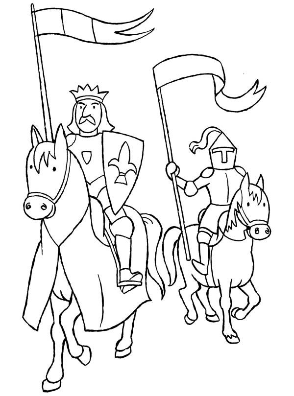 knights coloring pages 2 - Knight Coloring Pages 2