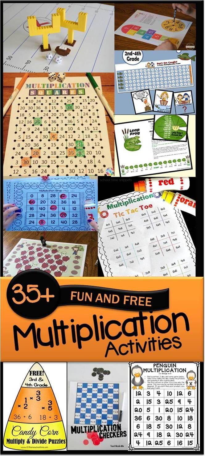 Easy, Low Prep Printable Multiplication Games! {FREE