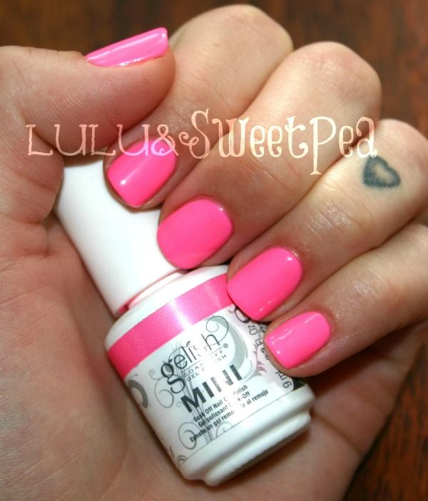 My New Gelish Goodies With Images Pink Shellac Nails Pink Gel