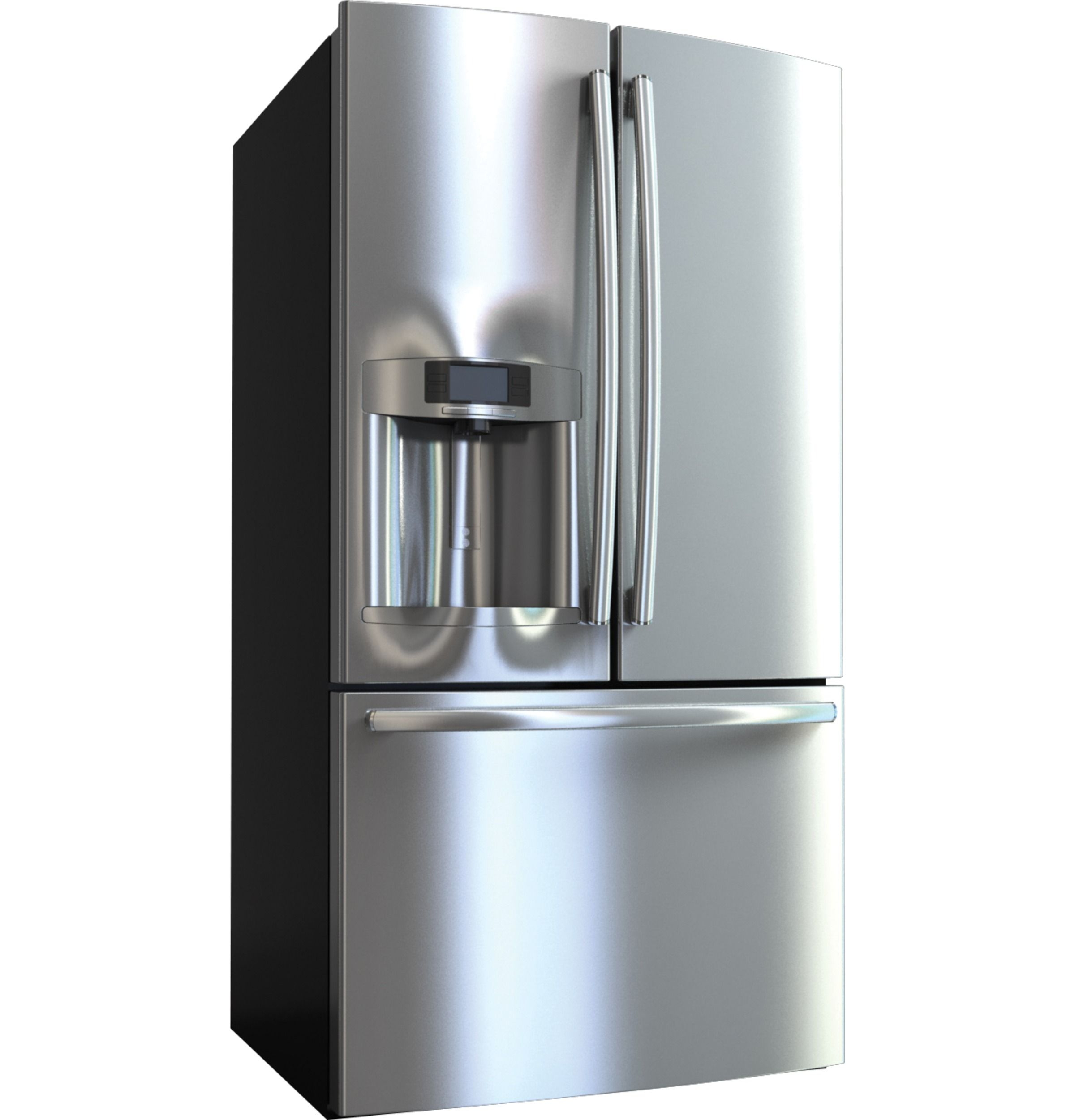 Capacity French Door Refrigerator With External Ice  Contemporary