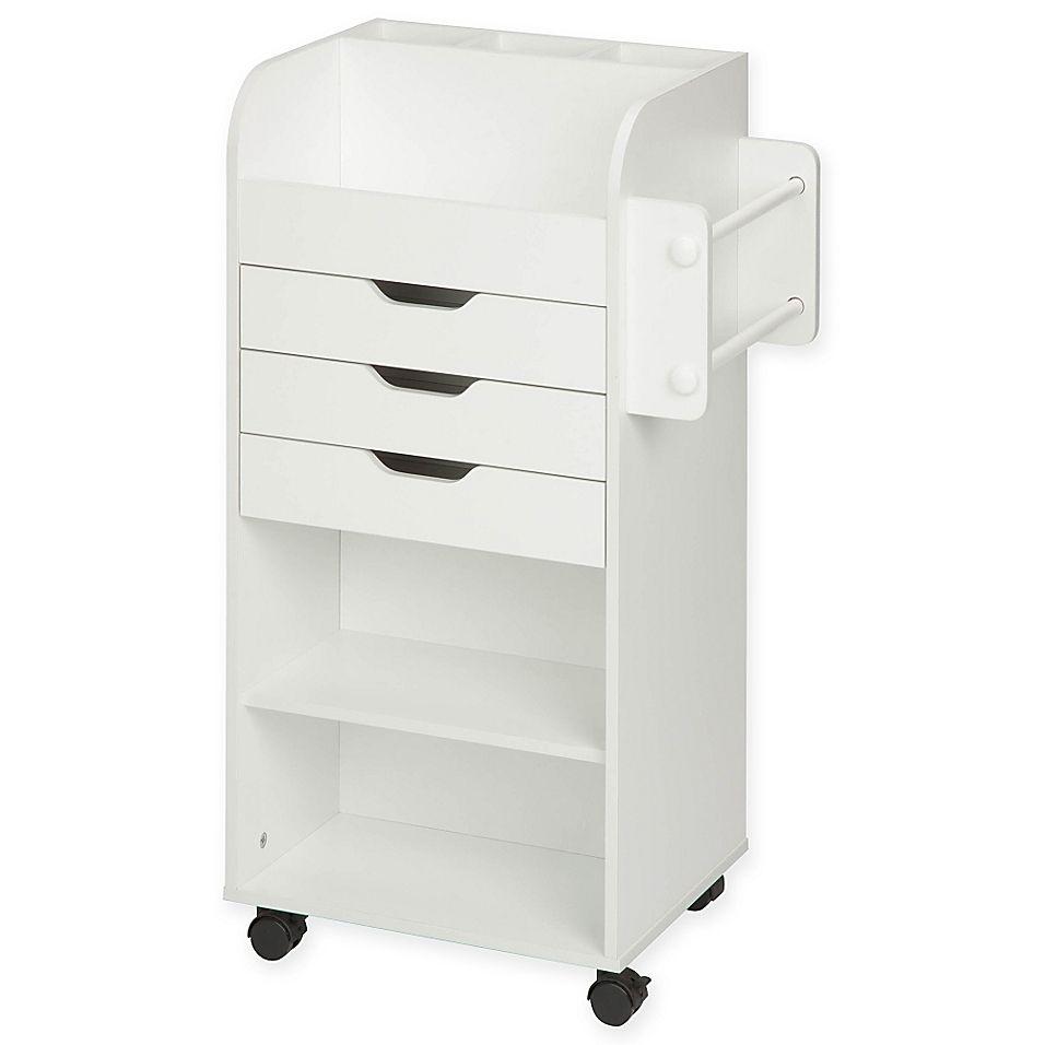 Honey Can Do Craft Storage Cart In White Craft Storage Cart