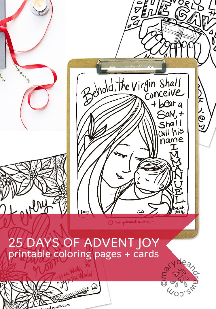 The 25 Days of Advent Joy printable set from Marydean