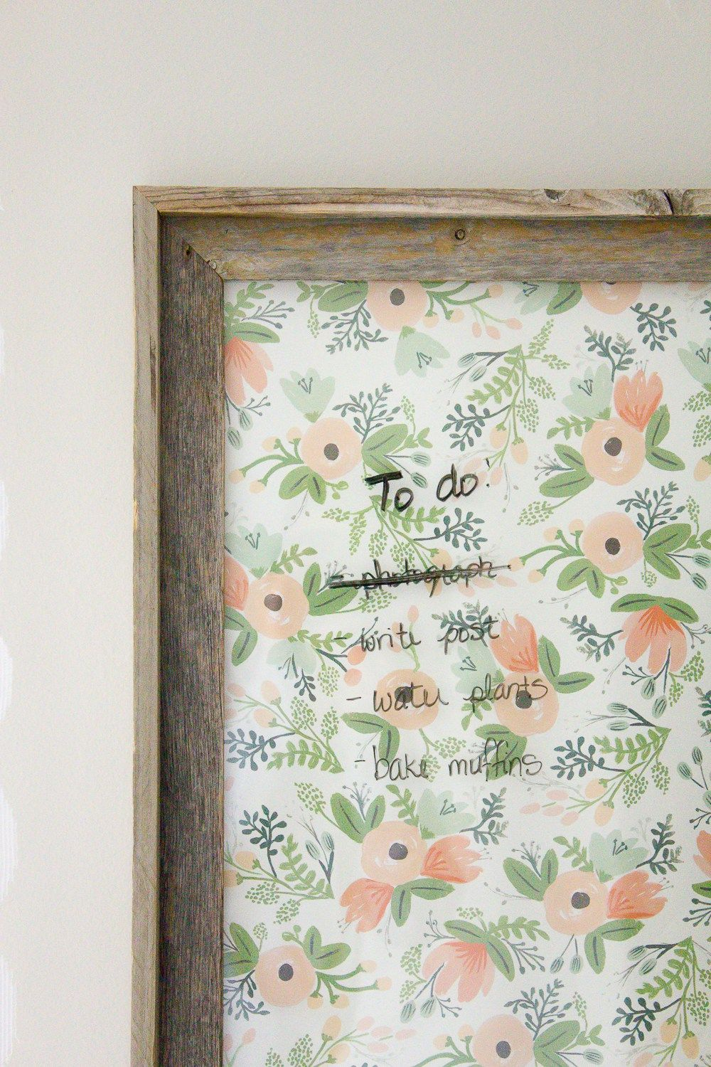 Farmhouse Home How To Make Your Own Dry Erase Board Diy The Circuit For Project Or You Can Do It Yourself At See I Turned An Old Picture Frame Into A Thats Both Functional And Pretty Makingitinthemountainscom
