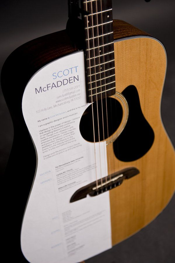 Aspiring Graphic Designer Turns Guitar Into A Musical Resume