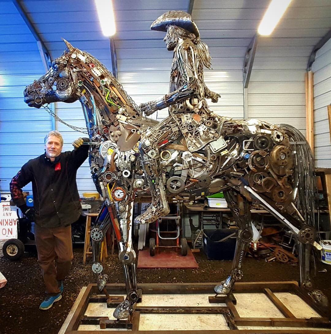 Incredible Sculptures Created Out Of Recycled Materials By