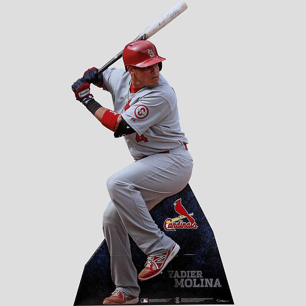 LifeSize Yadier Molina Stand Out Cut Out Shop Fathead For St - Yadier molina wall decals