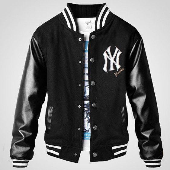 ace826c23eb NY Yankee thicken Mens Letterman jacket