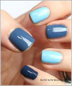 Blue chanel...luv this idea with any colors. Same colors just varied shades. Cute!
