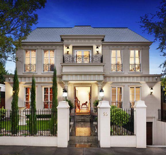 Symmetrical facade luxury houses pinterest facades for Symmetrical house plans
