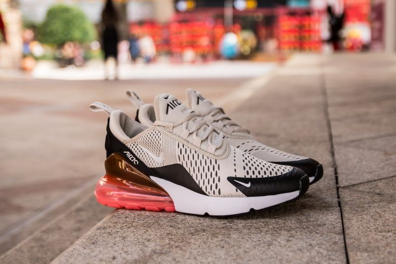 brand new fcc3c c4d02 Nike Air Max 270 AH8050-003 Cream Red Shoes for Sale-05 This Nike Air Max  270 features a Khaki mesh upper paired with Black overlays.