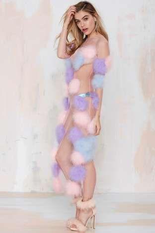 Dyspnea Mutha Fluffa Feather Dress   Shop Clothes at Nasty Gal