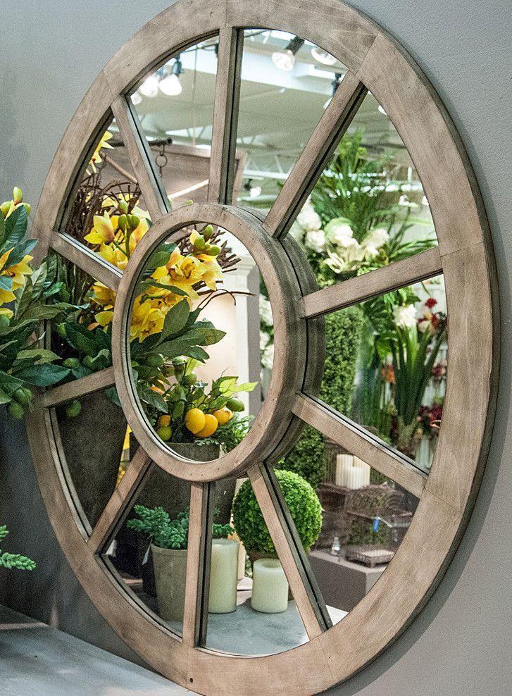 Montgomery Wagon Wheel Mirror | Home | Pinterest | Wagon wheels ...