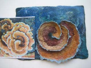 Robin at Luckystone Feltworks Studio: Liz Clay Workshop and Blue Moon Wrap