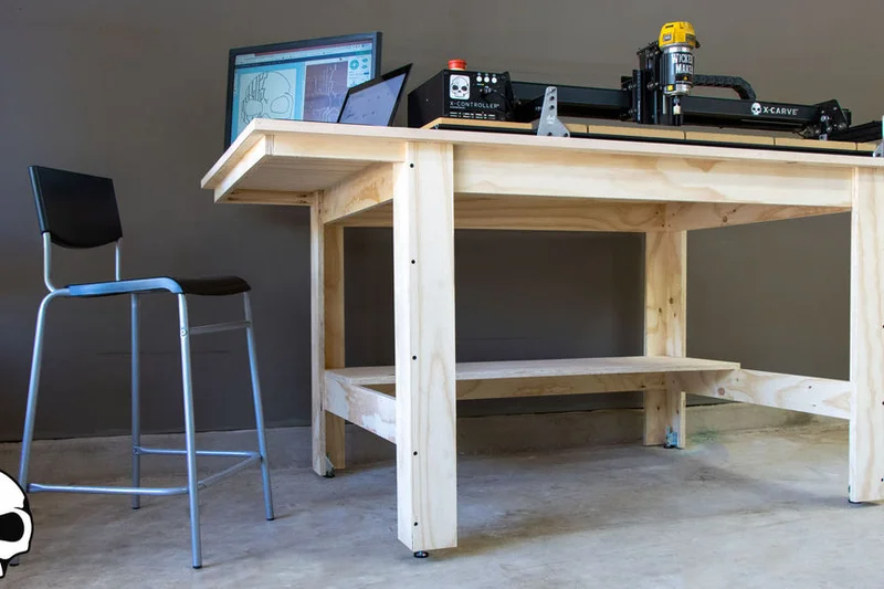 Diy Workshop Table From Plywood In 2020 Diy Workshop Cnc Table Diy Projects Plywood