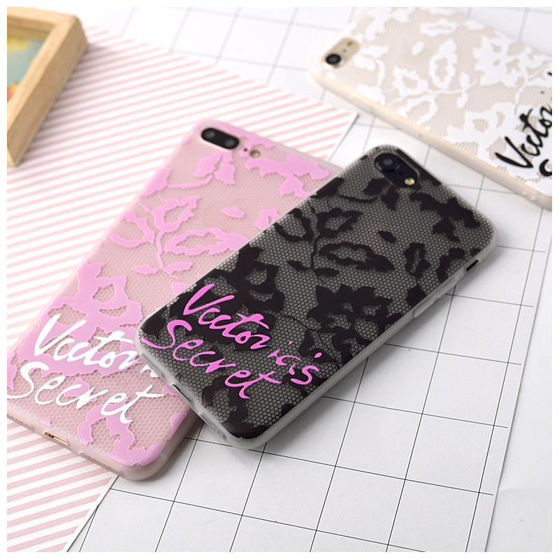 빅토리아 레이스 case 대한 iphone 7 7 plus 비밀 편지 커버 case 대한 iphone 6 6 s plus 소프트 tpu 매트 케이스 커버 전화
