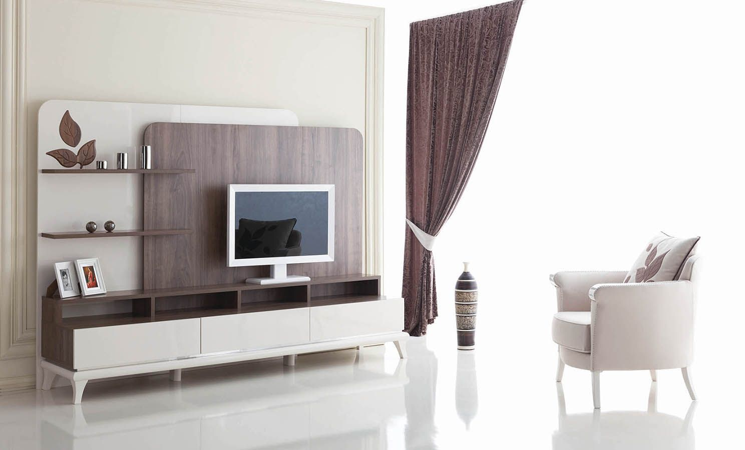 Hochwertiger Designer Möbel Rodos (Sofa 2x Sessel Couchtisch)