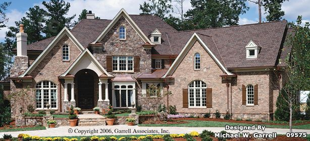 garrell associates inc avalon manor house plan front elevation normandy style house planstraditional style house plans s design by michael w
