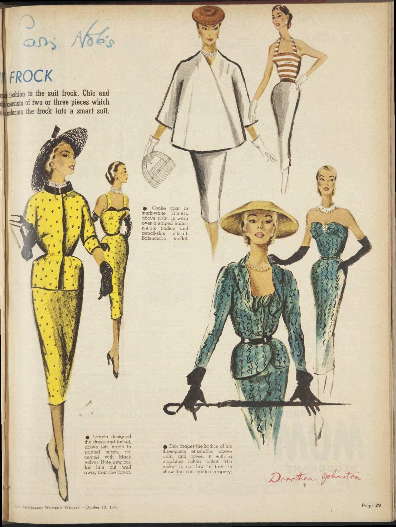 Issue 10 Oct 1951 The Australian Women S Wee Fifties Fashion Retro Fashion Fashion