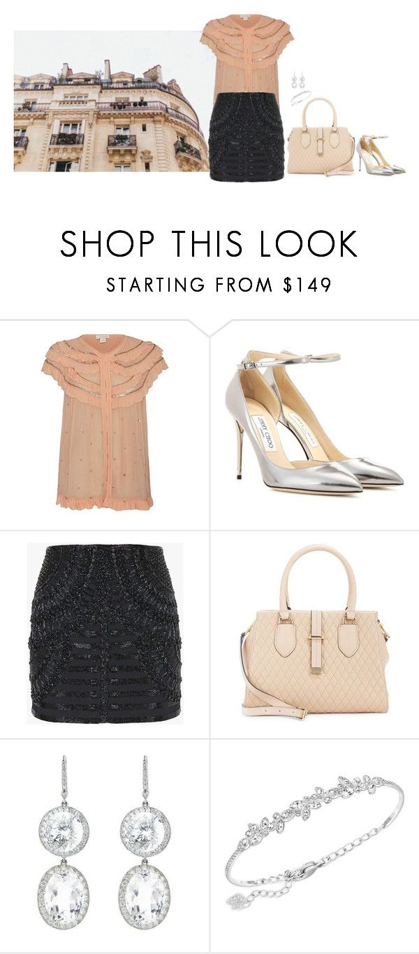 """""""Classy girl"""" by blueeyed-dreamer ❤ liked on Polyvore featuring Intropia, Jimmy Choo, Balmain, Calvin Klein, Andrea Fohrman and Swarovski"""