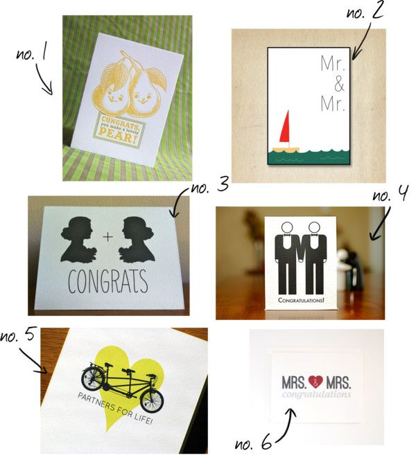 the best wedding cards for gay + lesbian couples