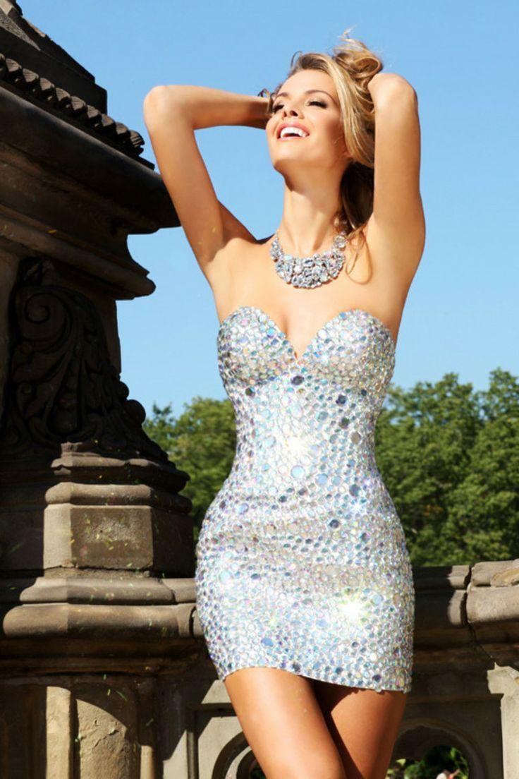 So much sparkle short prom dress ladyus quarterly pinterest