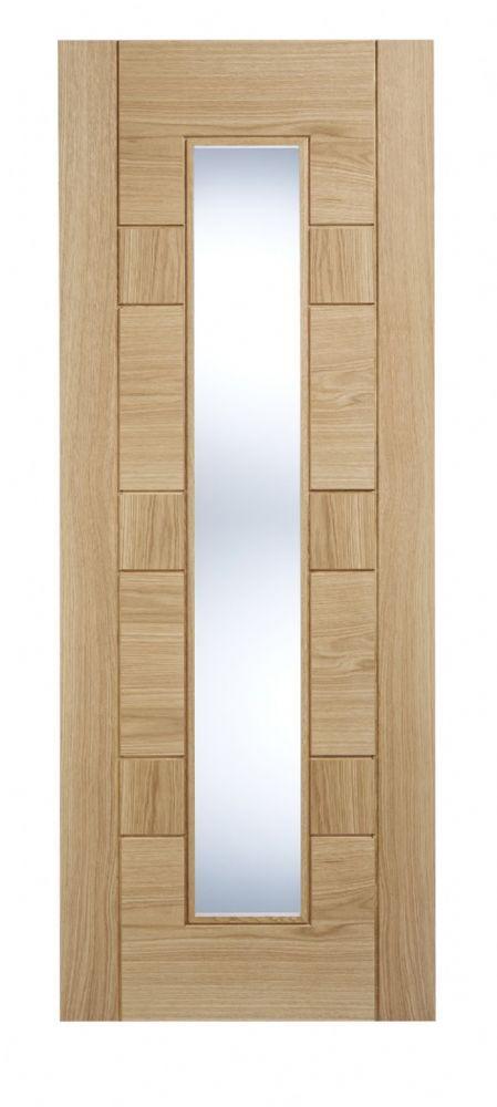 Pre Finished Oak Edmonton Glazed Internal Door Available In Sizes 78