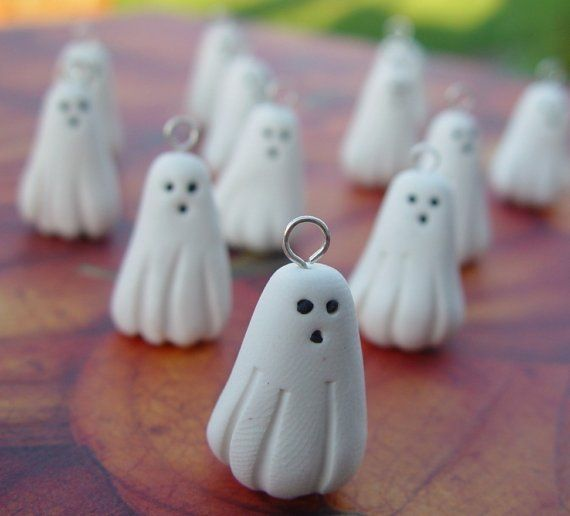 Ghost charm or Pendant. Polymer Clay Halloween Charm. Ghost Party Set on Etsy