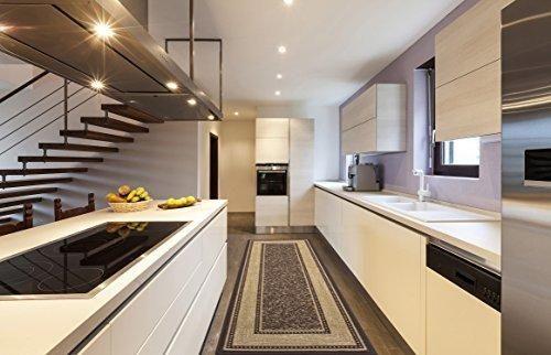 Ottomanson Ottohome Collection Contemporary Bordered Design Modern Adorable Kitchen Runner Rugs Design Decoration