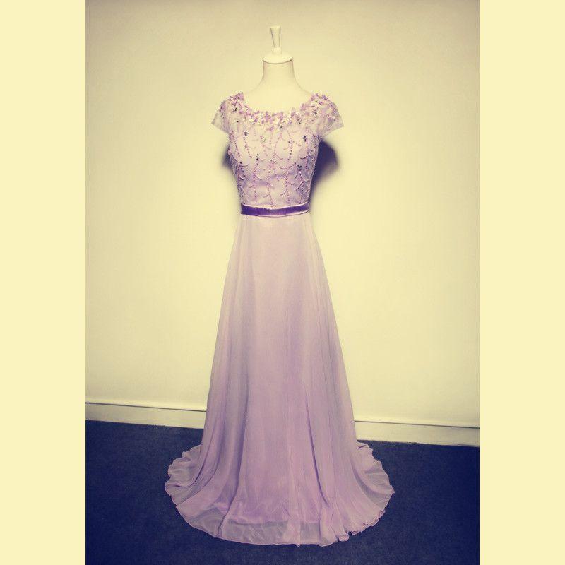 Pd311 Elegant Evening Dress,A-Line Evening Dress,Beading Evening Dress,Chiffon Evening Dress
