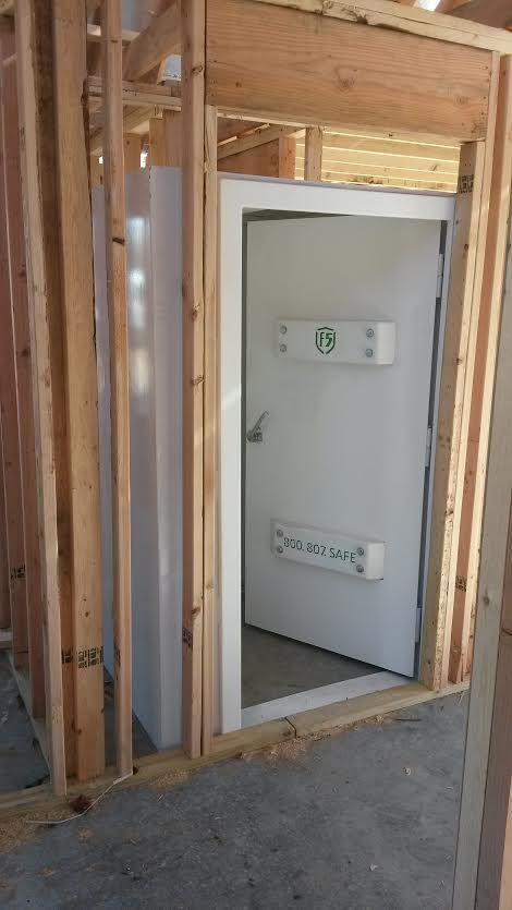 Pre construction above ground safe room install we did for for Safe room dimensions