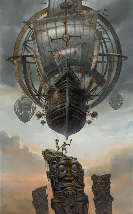 Beautiful Steampunk Voyages From Didier Graffet Steampunk Airship Steampunk Art Dieselpunk
