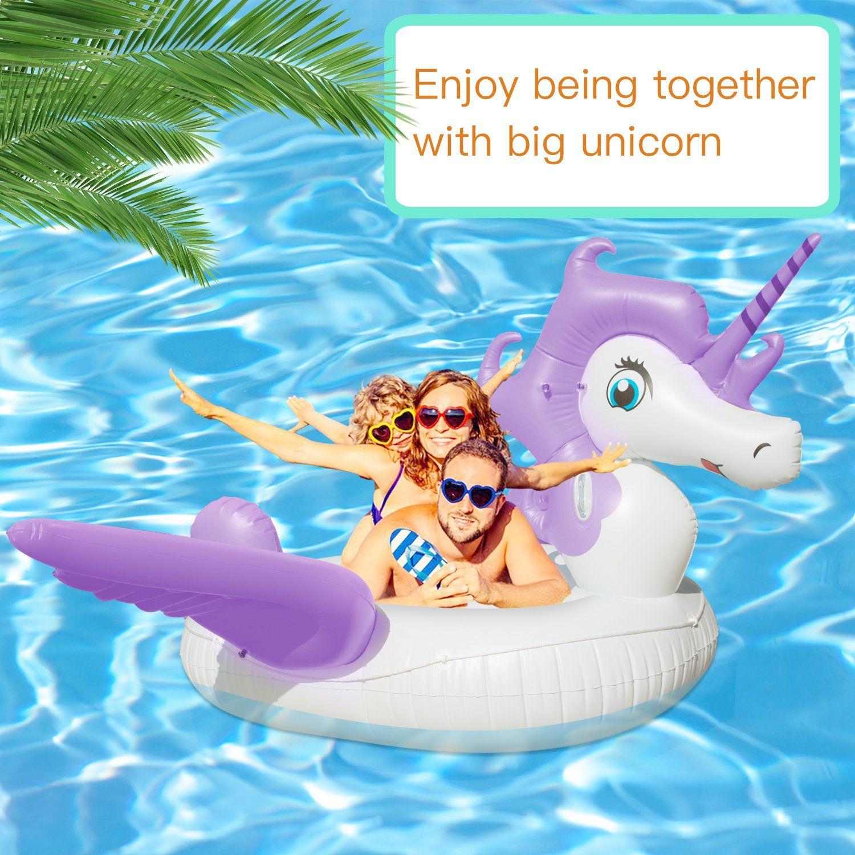 Inflatable Unicorn Pool Float Giant Rideon Floating Raft Float