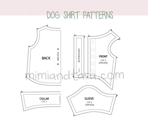 Dog Shirt Patterns Mimi Tara Free Dog Clothes Patterns All 4
