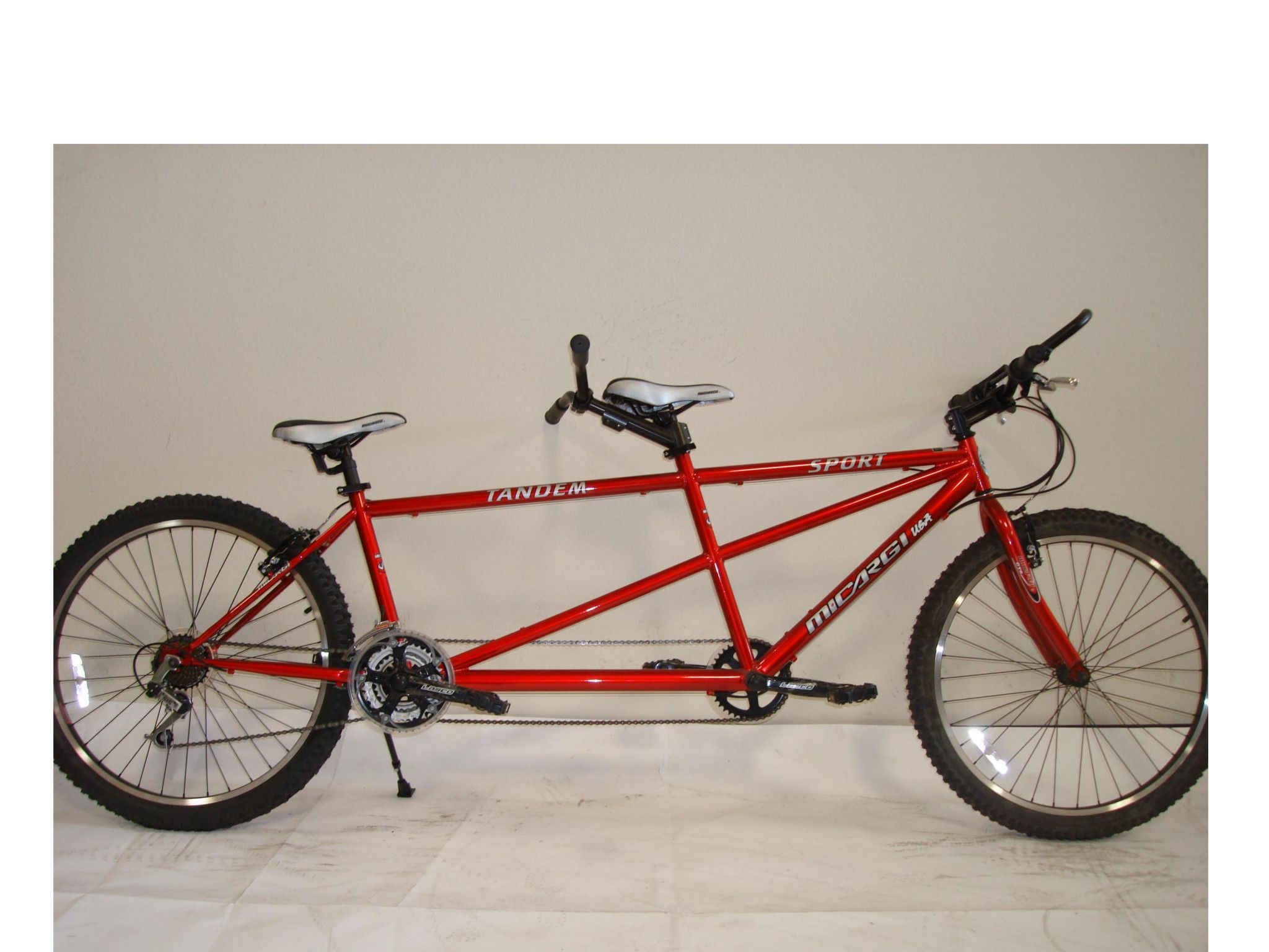 Micargi sport shimano 7 speed 26 tandem beach cruiser bike red