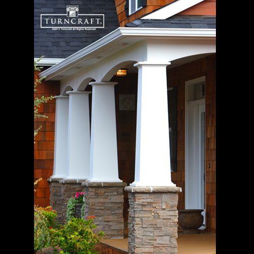 Columns Don T Just Have To Be Round Great Craftsman Design House Exterior Porch Columns Craftsman Columns