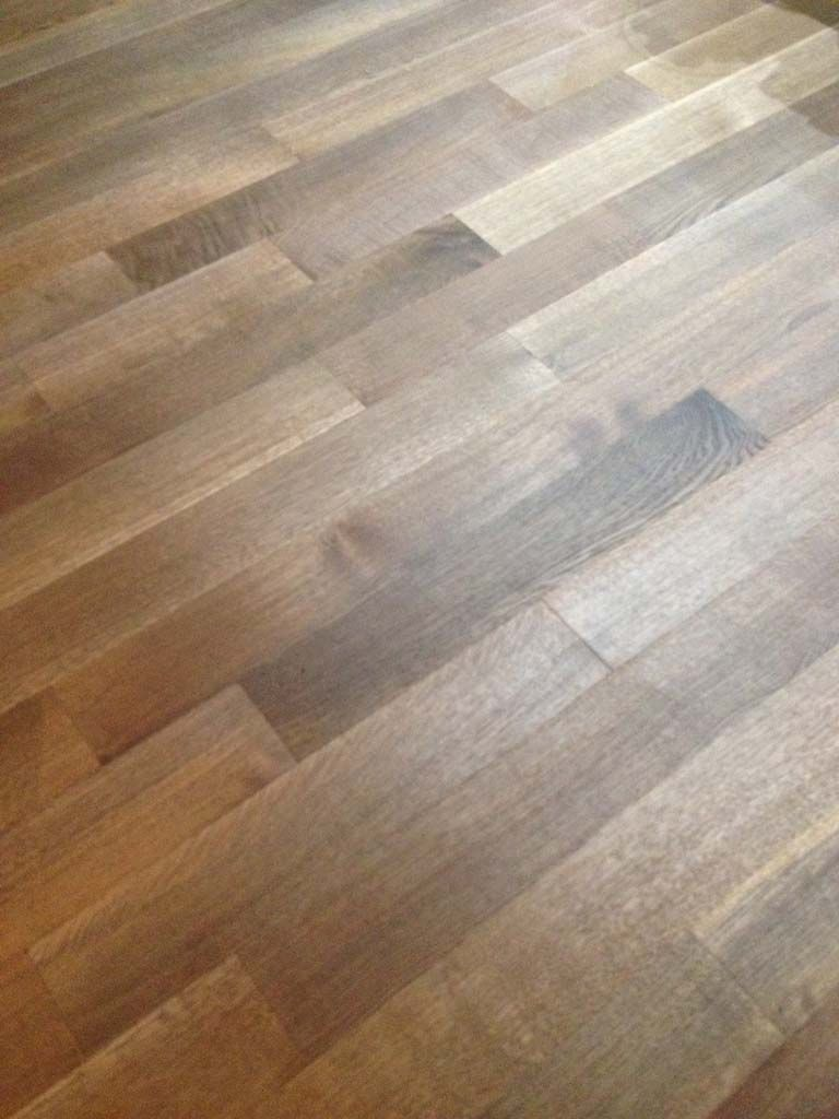 Led And Halogen Light On White Oak Floor With Rubio Monocoat Fumed