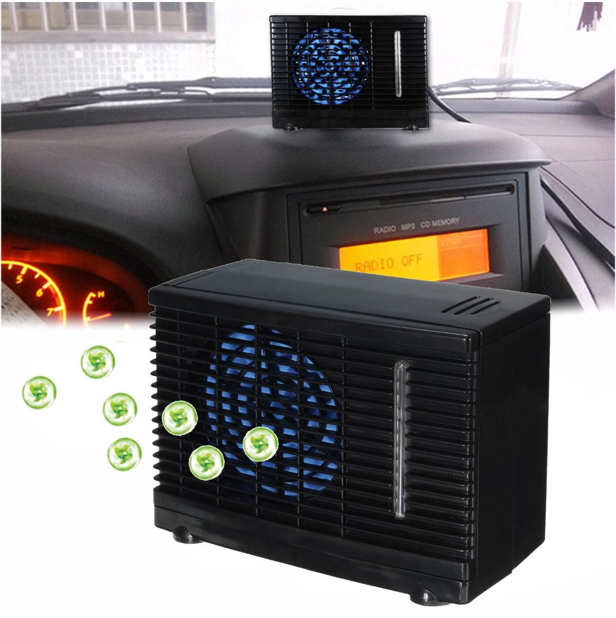 12V Portable Home Car Cooler Cooling Fan Water Ice